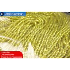 3CUT богемский, на нитях 11/0 желтыйс прокрасом серебром