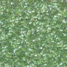 10/0 Twist Hex Cuts 250 Grams Green Trans Rainbow (179)