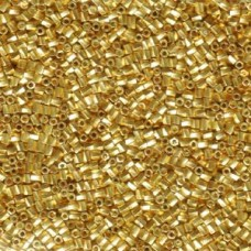 10/0 Twist Hex Cuts 250 Grams Galvanized Gold (182)
