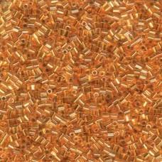 11/0 Seedbead Miyuki 100 Gram Cut 24kt Gold Lined Crstl (195)