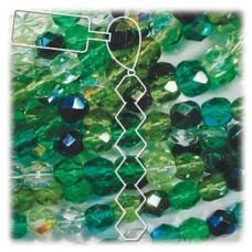 4mm Evergreen Mix 38 Bds Per Strand