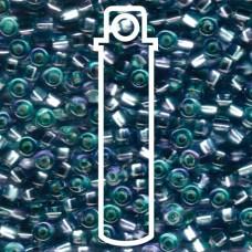 Sq Hole Rococo S/l Aqua Amethyst Miyuki Appx 20gm Tube (3275)