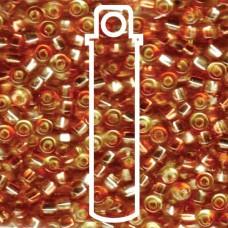 Sq Hole Rococo S/l Jonquil Peach Miyuki Appx 20gm Tube (3278)