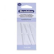 Collapsible Eye Needles 2.5 In (6.4 Cm) Asst 3 Pc