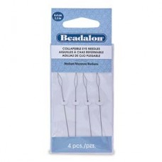 Collapsible Eye Needles 2.5 In (6.4 Cm) Med 4pc