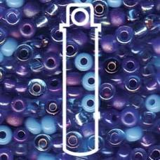 8/0 Seed Bd Mix Blue Tones- 22 Gm (MIX02)