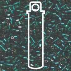 8/0 Cut S/l Emerald Miyuki Apprx 20gm Tube (17)