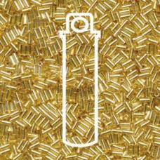 Bugle #1 (3mm) Miyuki S/l Gold -aprx 19.5gm/tb (3)