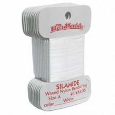 Silamide Thread A Wht 40yd Crd