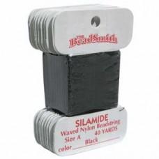Silamide Thread A Blk 40yd Crd