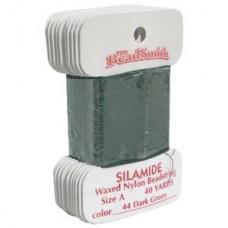 Silamide Thread A Dk Grn 40yd Crd