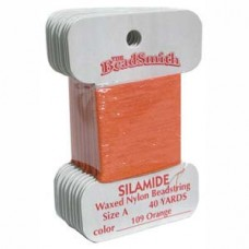Silamide Thread A Orange 40yd Crd
