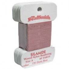 Silamide Thread A Dusty Ros 40yd Crd