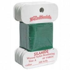 Silamide Thread A Kelly Grn 40yd Crd