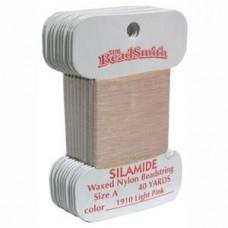 Silamide Thread A Lt Pink 40yd Crd