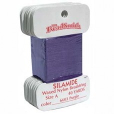 Silamide Thread A Purple 40yd Crd