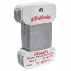 Silamide Thread A Pale Gry 40yd Crd