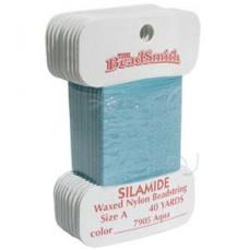 Silamide Thread A Aqua 40yd Crd