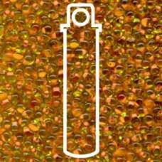 Miyuki Drop 3.4mm Salmon- Lined Lime - 25gm (F13)