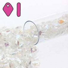 Dragon Scale Bead 1.5x5mm Crystal Ab-9.5gm/tb
