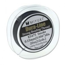 Miyuki Dura-line .015mm Smoke Grey 20 Mtr Spool