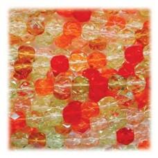 Fire Polish Mix 3mm Tango -per 100 Bds