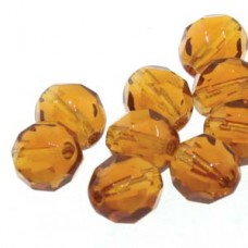 4mm Round Dk Amber Apprx 38 Bead Per Strand