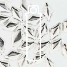 Gemduo 8x5mm Fine Silver Plate 8 + Gm/tb