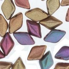 Gemduo 8x5mm Dk Gold Rainbow 100 Gm/bg