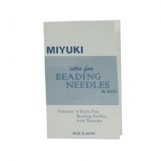 Miyuki Extra Fine Beading Needles 6 Pc + Threader