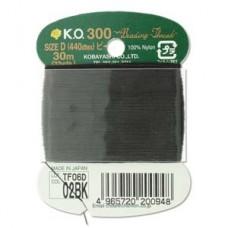 Ko Thread Black Size D 30 M (33 Yards) Card