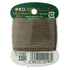 Ko Thread Brown Size D 30 M (33 Yards) Card