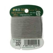 Ko Thread Grey Size D 30 M (33 Yards) Card