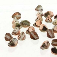 Pinch Bead 5mm Crystal Capri Gold -50bd/st-6st/bg