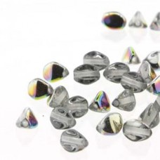 Pinch Bead 5mm Crystal Vitrail-50bd/st-6st/bg