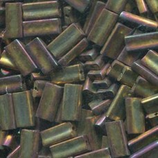 Rectangle 4x9mm Gold Violet Metallic -100gm/bg (462)