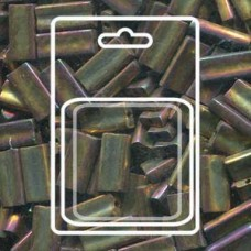 Rectangle 4x9mm Gold Violet Metallic -apx 17gm/cd (462)