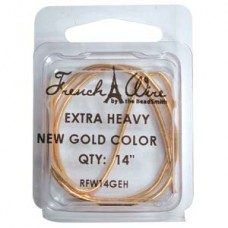 French Wire New Gold Clr Extra Heavy (1.8mm)- 14in