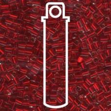 Silver Lined Ruby Miyuki 3mm Cubes Aprx 20gm/tb (11)