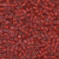 Matte S/l Flame Red Miyuki 3mm Cube 250 Gram (10F)