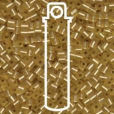 Matte S/l Gold Miyuki 3mm Cube Aprx 20gm/tb (3F)