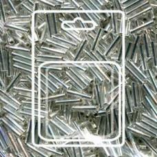 Slender Bugle 1.3x6mm S/l Crystal -apx 13gm/card (1)