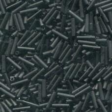 Slender Bugle 1.3x6mm Matte Black -100 Gram Bag (401F)