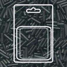 Slender Bugle 1.3x6mm Matte Black -apx 13gm/card (401F)