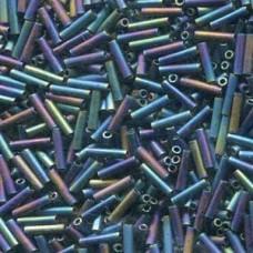 Slender Bugle 1.3x6mm Matte Black Ab -100 Gram Bag (401FR)