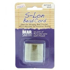 S-lon Bead Cord Antique Gold 77yd-1/cd