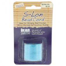 S-lon Bead Cord Bermuda Blue 77yd-1/cd