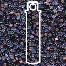 Miyuki Sharp Triangle 8/0 Matte Black Ab Aprx 7.2 Gms (401FR)