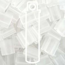 Tila Bead 5mm Matte Transp Crystal-apprx 7.2gm (131F)