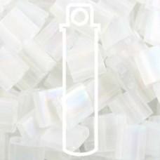 Tila Bead 5mm Matte Transp Crystal Ab-apprx 7.2gm (131FR)